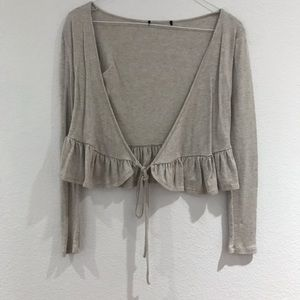 Knit tie around top